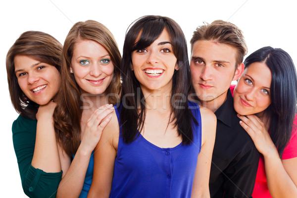 Photo stock: Belle · personnes · multinational · jeunes · heureux · groupe · de · gens