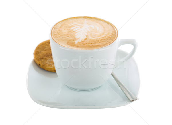 Cookie and coffee art cappucino Stock photo © Lighthunter