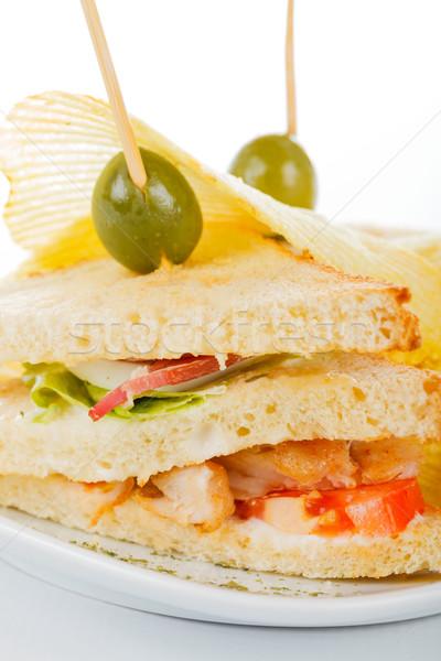 Gustos sandwich proaspăt ingrediente Imagine de stoc © Lighthunter