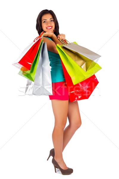 Menina mulher atraente sorridente amavelmente mulher Foto stock © Lighthunter