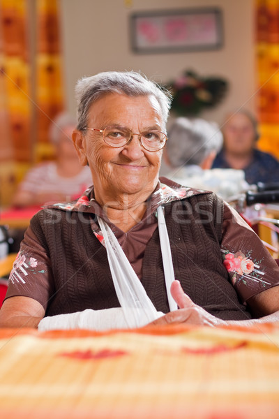 Smiling elderly woman Stock photo © Lighthunter