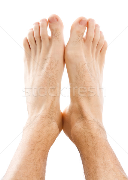 Male feet isolated on white Stock photo © Lighthunter