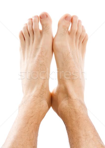 Mannelijke voeten geïsoleerd witte lichaam mannen Stockfoto © Lighthunter
