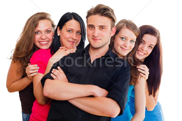 Photo stock: Multinational · jeunes · heureux · groupe · de · gens · femmes