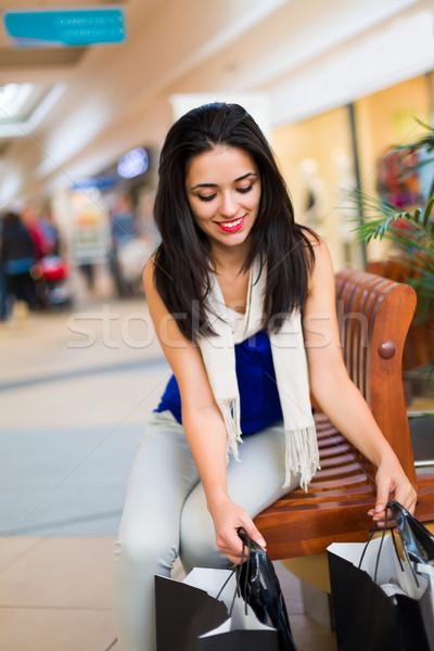 Alışveriş bugün benim favori alışveriş merkezi gülümseyen Stok fotoğraf © Lighthunter