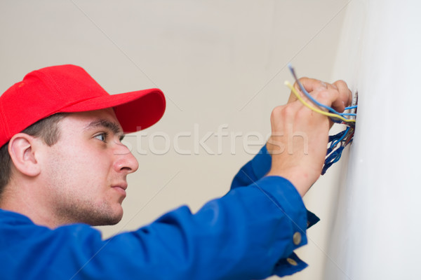 Handyman in duty Stock photo © Lighthunter