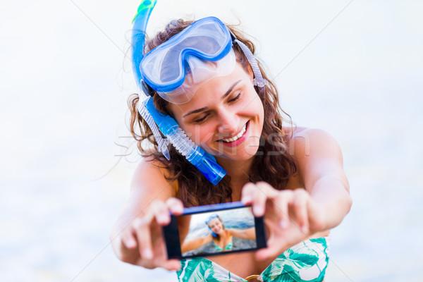 Selfie before swimming Stock photo © Lighthunter