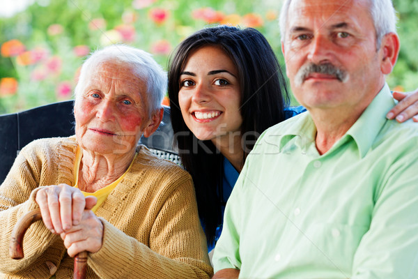 Nurse with Seniors Stock photo © Lighthunter