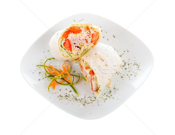 Foto stock: Fresco · carne · presunto · legumes · queijo