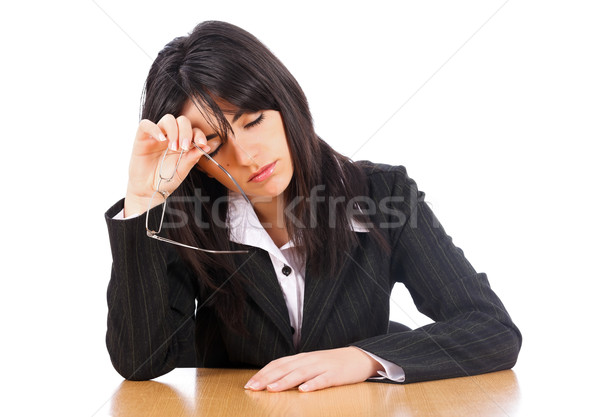 Kimerültség munka nő ügyvéd elvesz el Stock fotó © Lighthunter