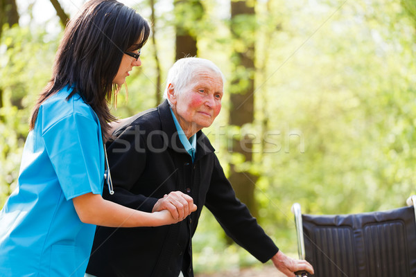 Doctor Helping Elderly Stock photo © Lighthunter