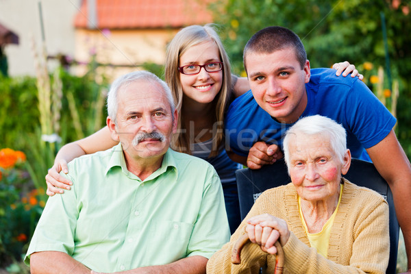 Family in Residential Care Home Stock photo © Lighthunter