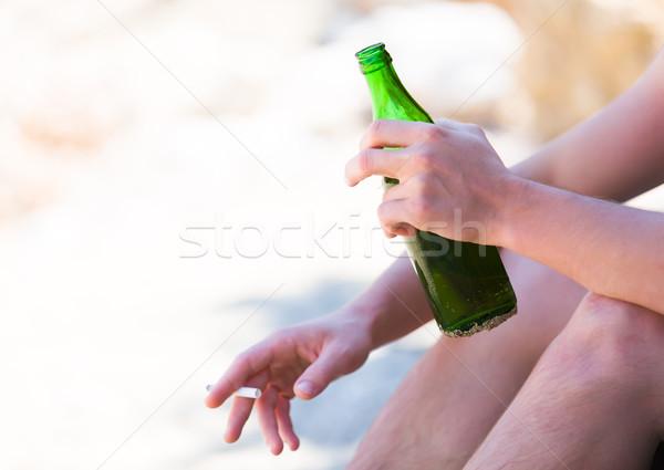 中毒性の 健康 破壊 悪い 休暇 男 ストックフォト © Lighthunter