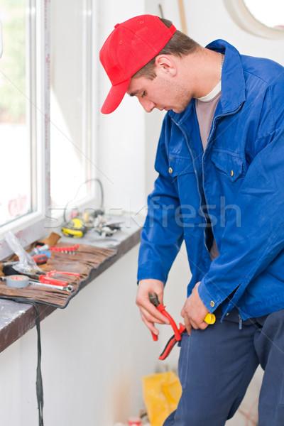 便利屋 若い男 電気 ツール 男性 ワーカー ストックフォト © Lighthunter