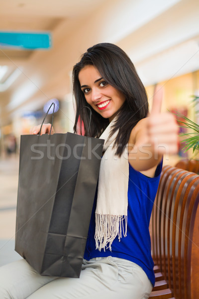 Woman Like Shopping in Mall Stock photo © Lighthunter