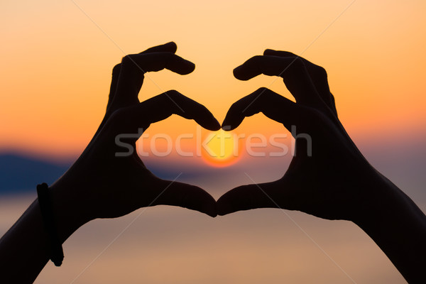 Heart shape in the sunset Stock photo © Lighthunter