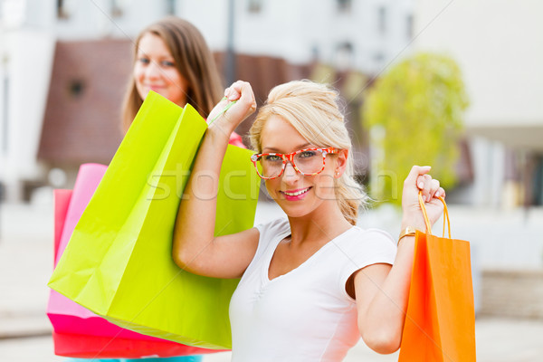 Beautiful Girlfriends Gone Shopping Stock photo © Lighthunter