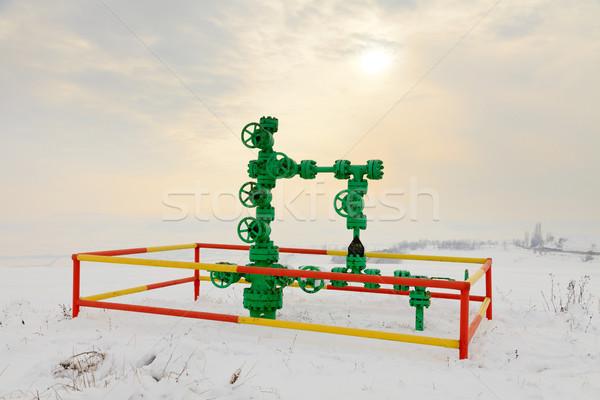 Gas tubería nieve invierno industria industrial Foto stock © Lighthunter