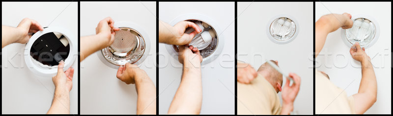 How to Mont Lights by an Electrician Stock photo © Lighthunter