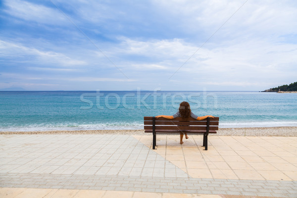 地中海 表示 小さな 女性 ストックフォト © Lighthunter