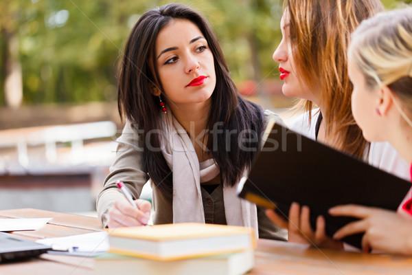 Student Explaining To Friends Stock photo © Lighthunter