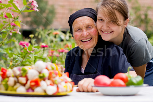Visiting an elderly woman Stock photo © Lighthunter