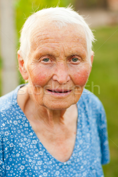 Portrait of an old lady Stock photo © Lighthunter