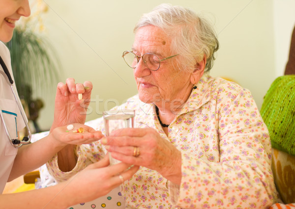 Medications for an old woman Stock photo © Lighthunter