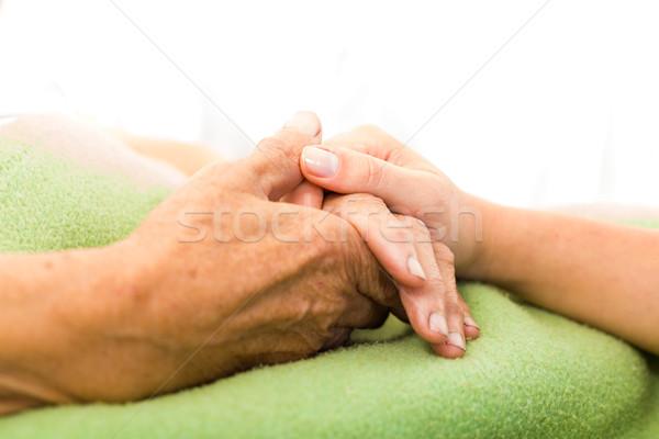 Törődés idős társasági szolgáltatások nővér tart Stock fotó © Lighthunter