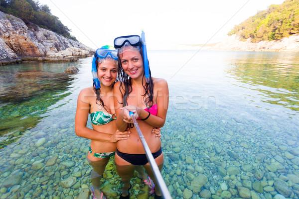 Selfie time before snorkeling Stock photo © Lighthunter