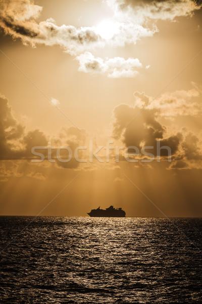 Drammatico cielo sopra ionica mare luce Foto d'archivio © Lighthunter