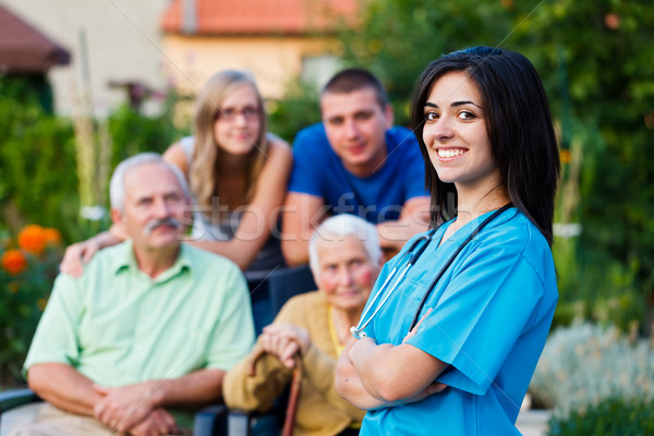 Welcoming Nursing Home Carer Stock photo © Lighthunter