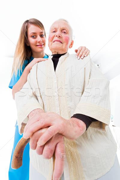 Confie me doente ajudar jovem assistente Foto stock © Lighthunter