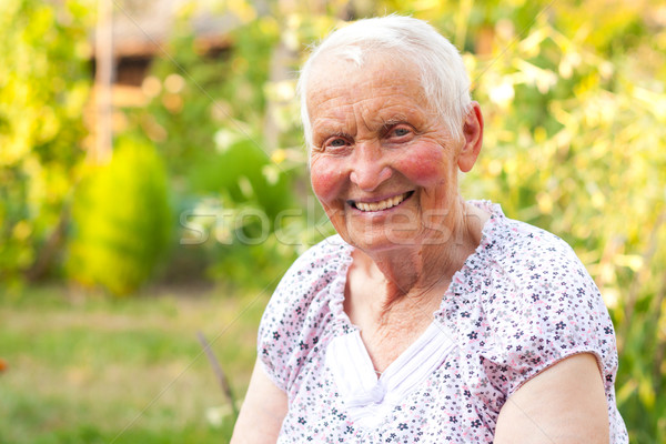 Smiling senior woman Stock photo © Lighthunter