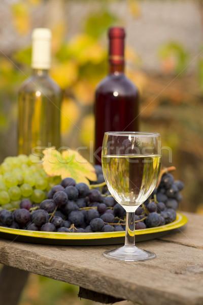 De uva vid naturaleza muerta vino madera naturaleza Foto stock © Lighthunter