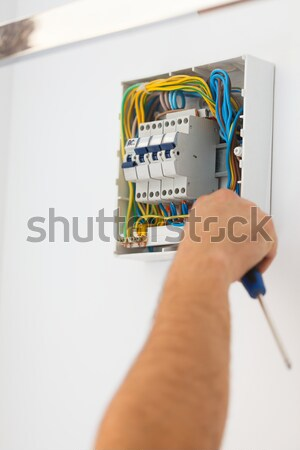 Fixing Electric Fuse at Home Stock photo © Lighthunter