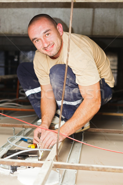 Electrician Man Working Stock photo © Lighthunter