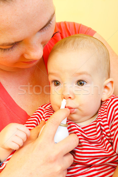 Caring mother curing Stock photo © Lighthunter