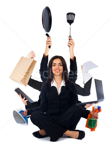 Kind Multi-Tasking Woman Stock photo © Lighthunter