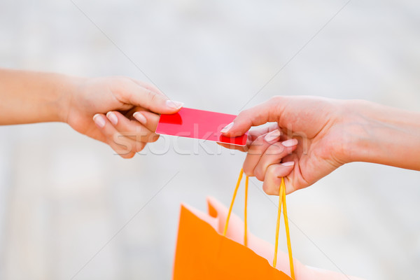 Paying With Card After Shopping Stock photo © Lighthunter