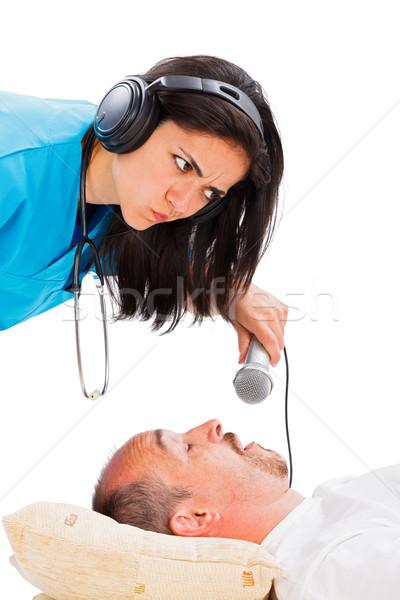 Doctor Listening to Snoring Stock photo © Lighthunter