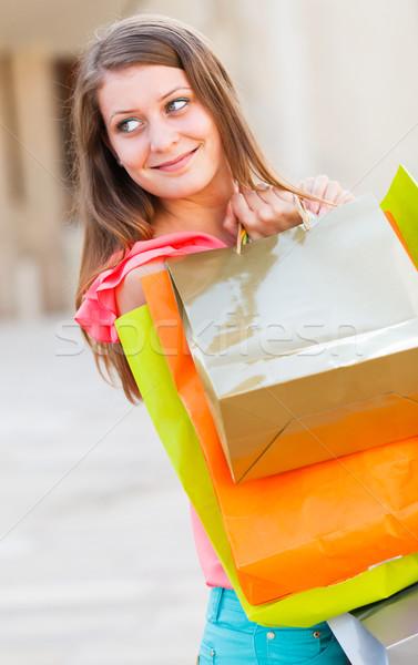Bonitinho sorrir senhora bela mulher sorridente amavelmente Foto stock © Lighthunter