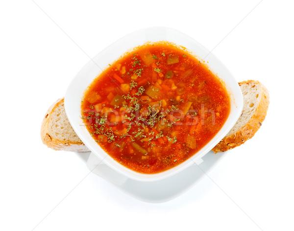 Vegetales sándwich sabroso sopa diferente hortalizas Foto stock © Lighthunter