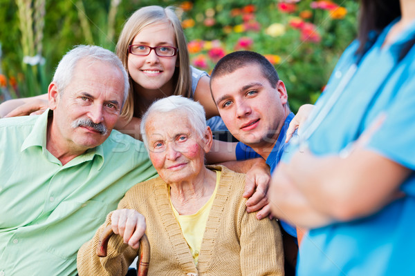 Visiting Granny in a Nursing Home Stock photo © Lighthunter