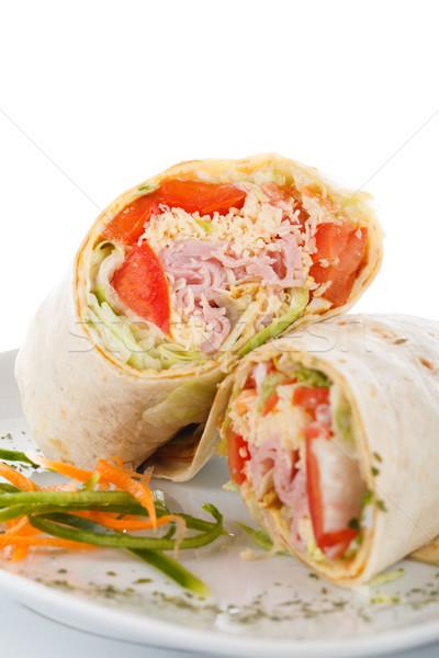 Foto stock: Vegetal · carne · presunto · legumes