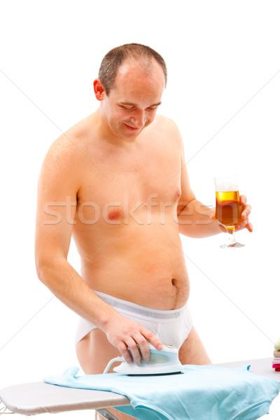 Foto stock: Masculina · de · trabajo · maduro · persona · potable