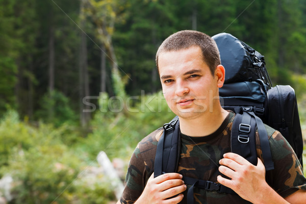 Hiker in the Forest Stock photo © Lighthunter