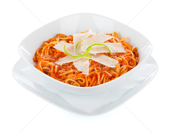 Bolognese spagetti Stock photo © Lighthunter