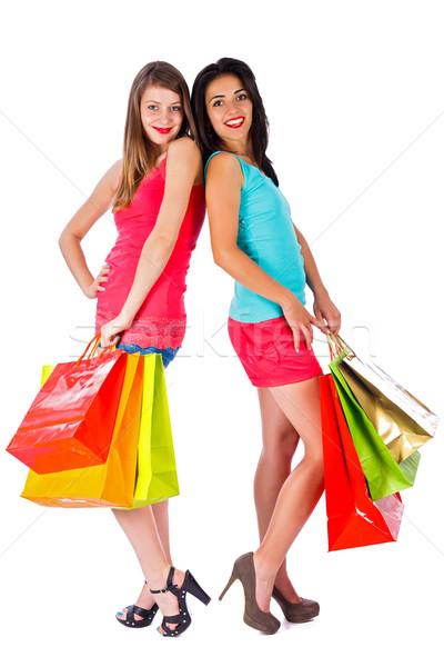 ショッピング 美しい 笑みを浮かべて 女性 少女 ストックフォト © Lighthunter