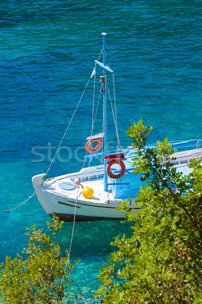 Shored boat in sea Stock photo © Lighthunter